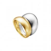 Curve Ring 18K Guld Sølv
