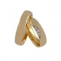 Curve Vielsesringe 14K Guld