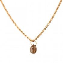 Diamond Drop Vedhæng 18K Guld