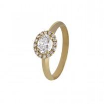 Rosét Ring 18K Guld