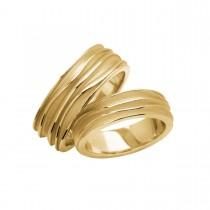 Waves Vielsesringe 14K Guld