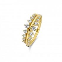 Empress Ring Forgyldt Sølv