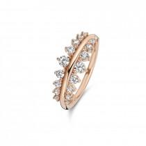Empress Ring Rosaforgyldt Sølv