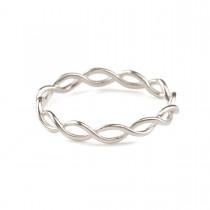 Entangled Ring Sølv