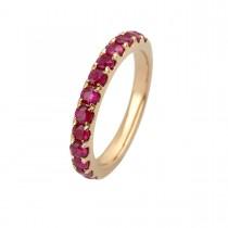 Eternity Ring 14K Gold Ruby