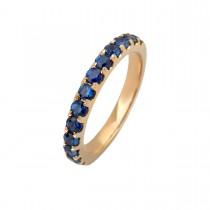 Eternity Ring 14K Gold Sapphires