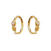 Florus Earrings Gold Plated Silver