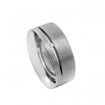 Fontana Grey Ring 18K Hvidguld
