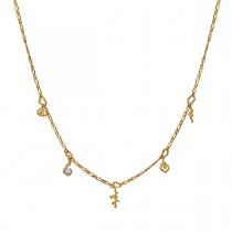 Hali Necklace Gold Plated Silver