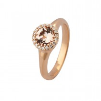 Halo Ring 18K Rosaguld