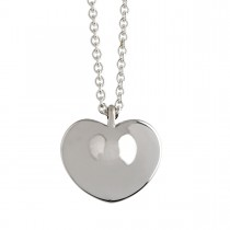 Heart Drop Large Vedhæng Sølv