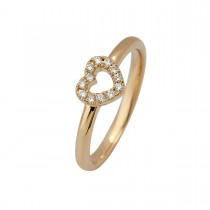 Hjertering Ring 14K Guld