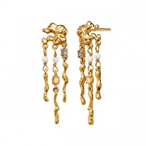 Jelly Earrings Gold Plated Silver