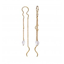 Laba Earrings Gold Plated Silver