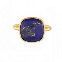 Lapis Lazuli Ring Forgyldt Sølv