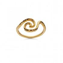 Lilja Ring Forgyldt Sølv