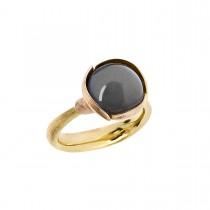 Lotus Ring Str.2 18K Guld Månesten
