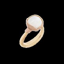 Lotus Ring Str.1 18K Guld Månesten