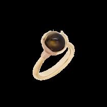 Lotus Ring Str.1 18K Guld Røgkvarts