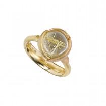 Lotus Ring 18K Guld Rutilkvarts