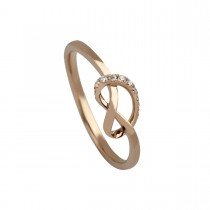 Lovers Knot Ring 14K Rosaguld