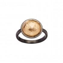 Luxury Pieces Globe Ring Sølv 18K Rosaguld