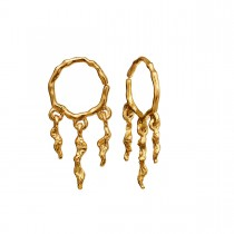 Mira Earrings Gold Plated Silver