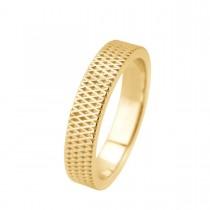 Mosaic Cross Ring 14K Guld