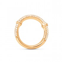 Nature Ring Pavé 18K Guld