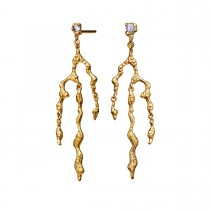 Nori Earrings Gold Plated Silver