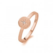 North Star Ring Rosaforgyldt Sølv