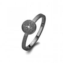 North Star Ring Ruthineret Sølv