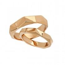 Origami Wedding Rings 14K Gold