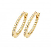 Passion Hoops Large Gold Plated