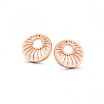 Peacock Earrings Rose Gold Plated Silver