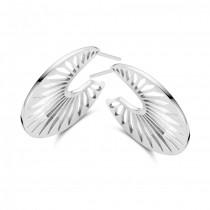 Peacock Øreringe Sølv