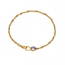 Perilla Bracelet Gold Plated Silver