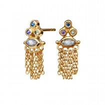 Pina Earrings Gold Plated Silver