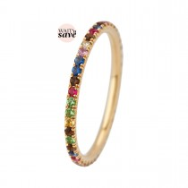 Puzzle Colours Ring 14K Guld