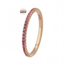 Puzzle Colours Ring 14K Rosaguld Safirer