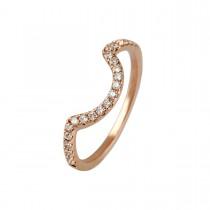 Puzzle Curve Ring 14K Rosaguld