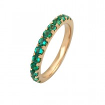 Eternity Ring 14K Gold Emeralds