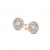 Romance Studs Rose Gold Plated Silver