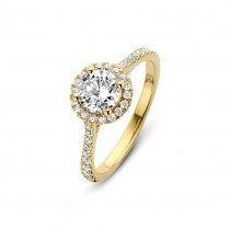 Romance Ring Gold Plated Silver