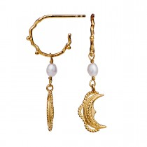 Romina Earrings Gold Plated Silver