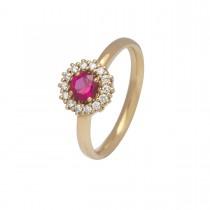 Ruby Ring 18K Guld