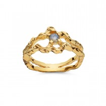 Shelly Ring Gold Plated Silver
