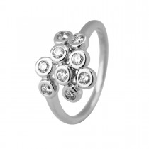 Shine Mini Ring 14K Hvidguld