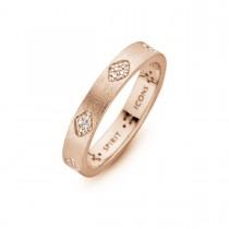Shine Ring Rosaforgyldt Sølv