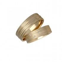 Silken Vielsesringe 14K Guld